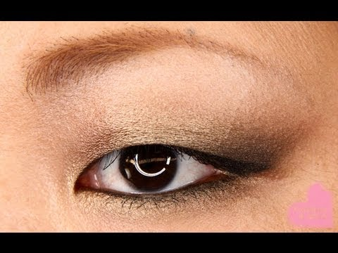 Metallic Gold Smoky Eyes Makeup Tutorial Using Urban Decay Naked Palette for Asian Monolids