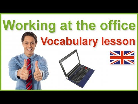 English vocabulary lesson with subtitles - Working at the office