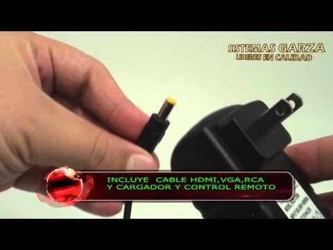 MINI PROYECTOR LED HDMI VGA RCA SD USB 80 LUMENS