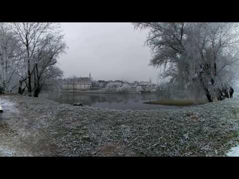 Straubing, Donau, 1 Januar 2016, Video 360