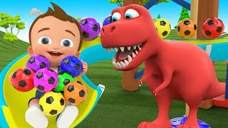 Little Baby Fun Play Learning Colors for Children with Soccer Balls Sliders ToySet 3D Kids Education