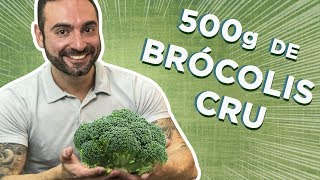 The 500g RAW Brocoli Challenge! (vs Matt, Pete & Erik)