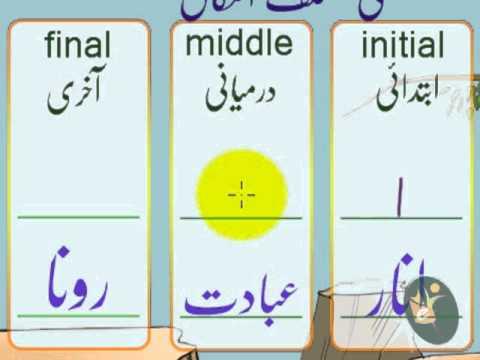 Urdu Letter Alf (ا) Haroof-e-Tahaji Part 1 ا ۔ جھنڈا