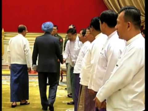 04 March, 2014 - Indian Prime Minister Meets Myanmar's President In Nay Pyi Taw