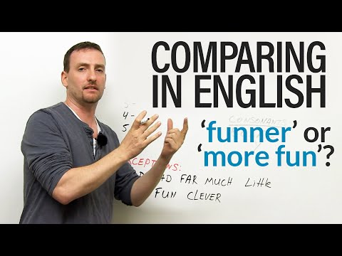English Grammar – Comparing: funner & faster or more fun & more fast?