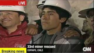 """Last Trapped Chilean Miner RESCUED!! """"Hope A Little Harder"""""""