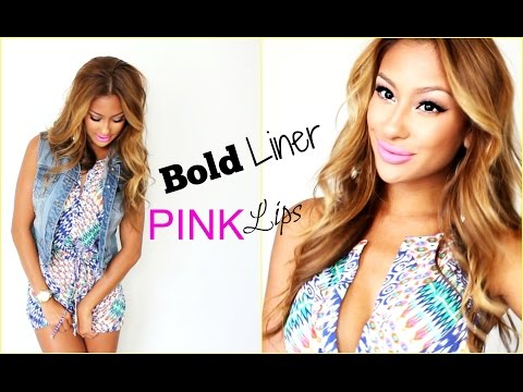 LOTD: Bold Liner Pink Lips-Complete look-