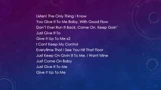 Usher - Good Kisser Lyrics