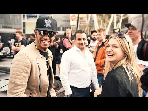Lewis Hamilton in the Gumball 3000 Supercar Rally