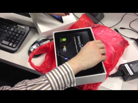Samsung Galaxy Tab 10.1 unboxing for Australia