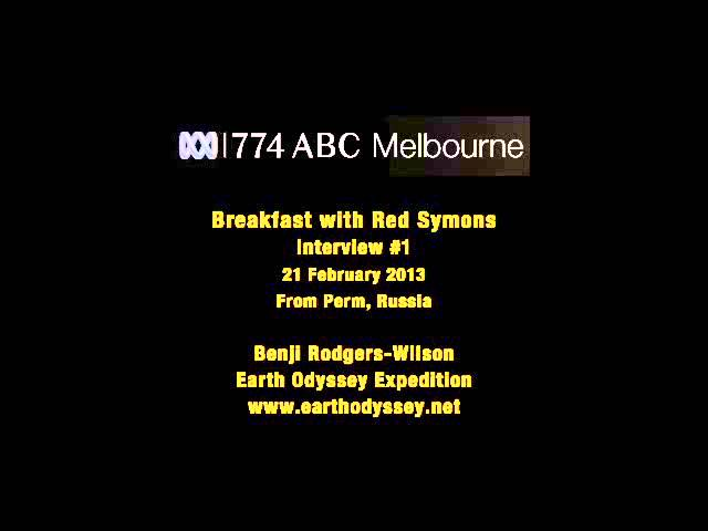 774 ABC Melbourne Radio. Red Symons, Benji Rodgers-Wilson. Interview 1