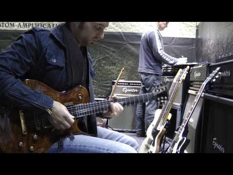 Musikmesse 2012 - Bogner pedals Uberschall Ecstasy Blue and Red