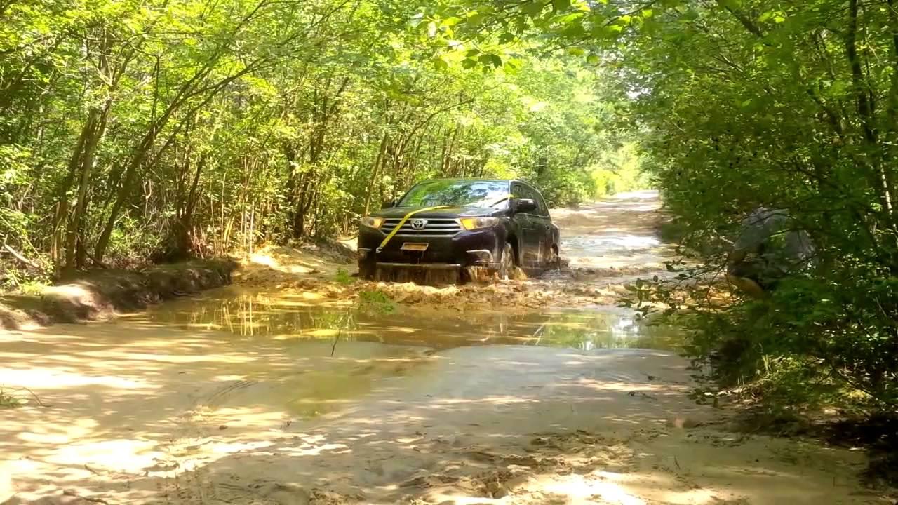 Toyota highlander off road in pine barrens youtube