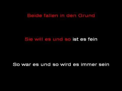 Rammstein - Rosenrot (instrumental with lyrics)