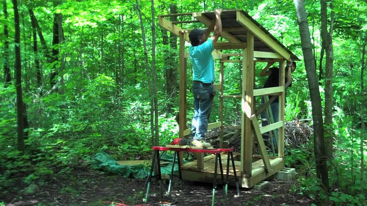 building outhouse