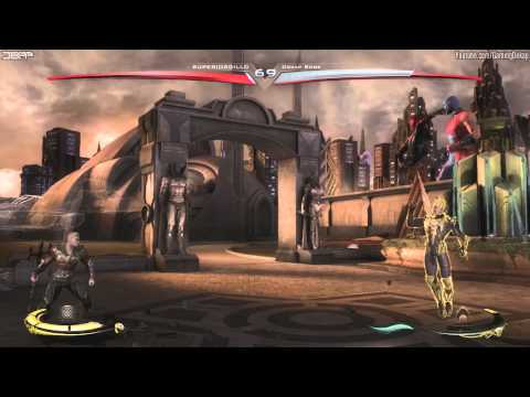 Injustice Gods Among Us - Winning Online 1v1 Ranked Matches Gameplay