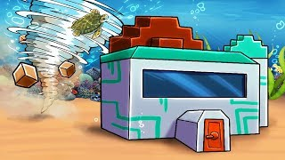 Minecraft | WHIRPOOL TORANDO BASE CHALLENGE! (Secure Underwater Base)