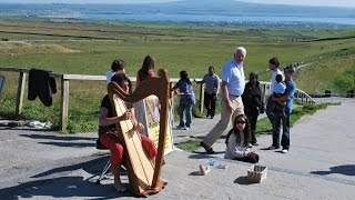 Celtic Harp - Cliffs of Moher Ireland 2009