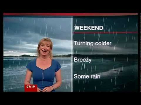 Carol Kirkwood Has a Fit of Giggles - BBC Weather