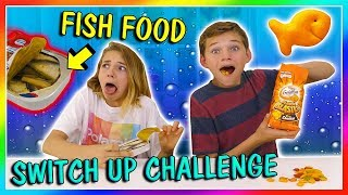EVERYTHING FISH FOOD SWITCH UP CHALLENGE| We Are The Davises