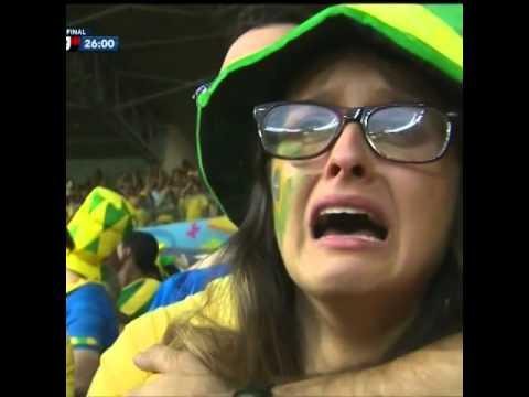 Brazilian Fans Crying, Brazil vs Germany World Cup 2014