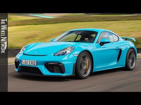 2020 Porsche 718 Cayman GT4 Road & Track Driving | Miami Blue