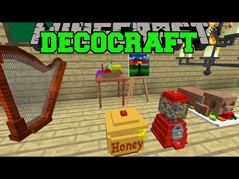 Minecraft: DECOCRAFT MOD (EPIC HOUSE DECORATIONS, FURNITURE, & MORE!) Mod Showcase