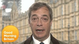Nigel Farage Reacts on the Vote to Delay Brexit | Good Morning Britain