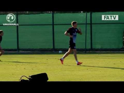 TEKKERS: Southampton's James Ward-Prowse quality volleys England U20s training