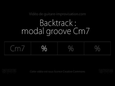 Modal groove Cm7 : Backing track - drums/bass only