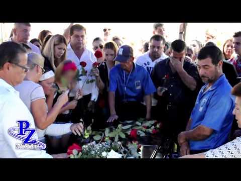 Excombatiente Dayana Hidalgo da su último adiós a su esposo
