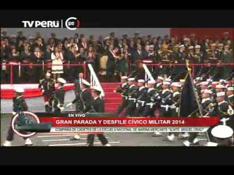 Compañías de la Marina se lucieron en desfile militar
