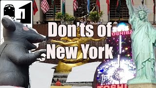 Visit New York - The Don'ts of New York City