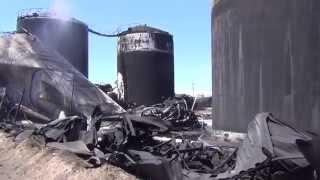 Нефтебаза БРС после пожара и взрывов.12:10 12 июня 2015.