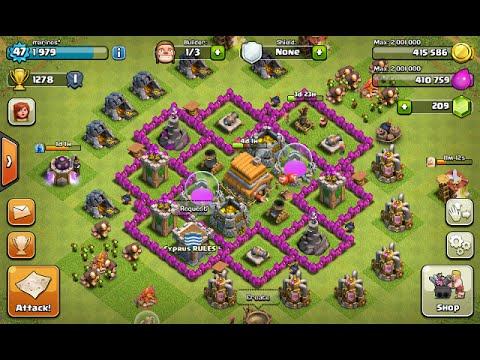 Town Hall Level 6 Defense Best Strategy for Clash of Clans Design Layout