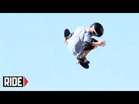 12 Year Old Skateboarder lands a 900 on the Mini-MegaRamp