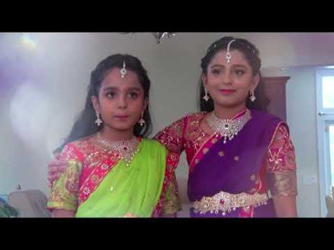 Sanvi & Satvi Half Sari Promo On 08 19 17 Video for Youtube thumbnail