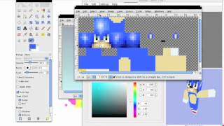Minecraft skin: Sonic The Hedgehog