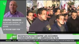 Manifestation en France contre les accords commerciaux avec l'Amérique du Sud