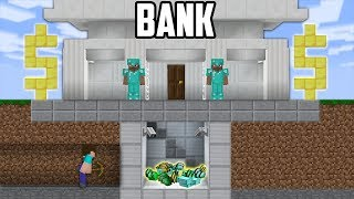 Minecraft Sub Noob vs Pro : SECURE BANK ROBBERY in Minecraft funny Animation