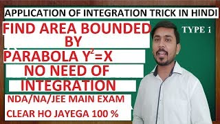 5.Application of Integral Trick #1 Find Area Bounded By Parabola Problem Shortcut Trick/NDA/JEE Exam
