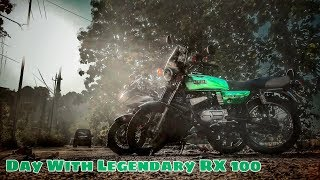 A day with the Legendary Yamaha RX 100   Two Stroke Madness   Vlog 58