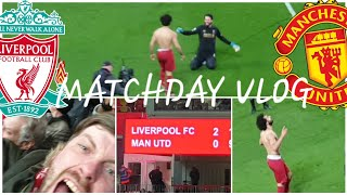 SALAH LATE WINNER! LIVERPOOL 2-0 MAN UNITED | MATCHDAY VLOG