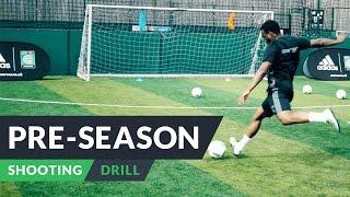 Pre-season training for football | Shooting drills