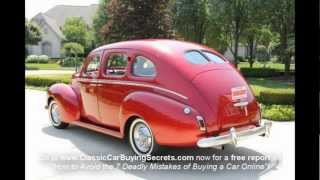 1940 Mercury 4 Door Sedan Classic Muscle Car for Sale in MI Vanguard Motor Sales