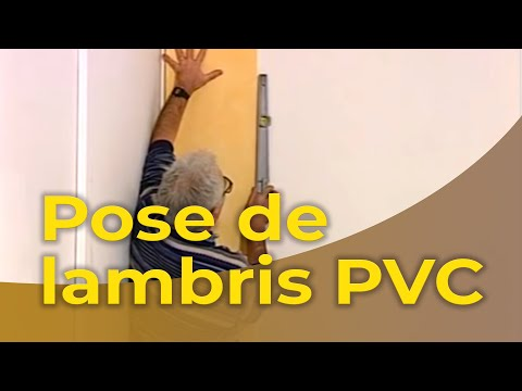La pose d 39 un lambris pvc youtube - Pose lambris pvc mural ...