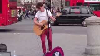 The Beatles, Norwegian Wood Cover - Busking in the Streets of London, UK