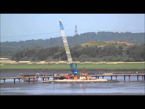 New Mersey Crossing Coffer Dam Runcorn Side July 2015