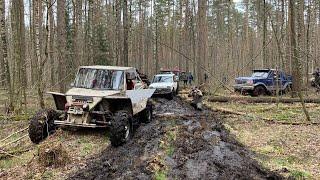 Багги на базе нивы, Ford Bronco и другие) Рубилово в лесу