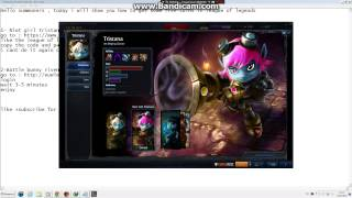 LoLBUGS: get free riot girl tristana + battle bunny riven // July 2014